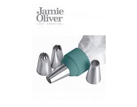 JAMIE OLIVER Сладкарски шприц с 5 бр. накрайници - цвят атлантическо зелено
