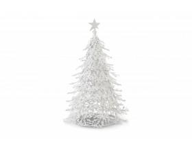 "PHILIPPI Бяла метална елха ""ARBRE"" - ръчно изработена"