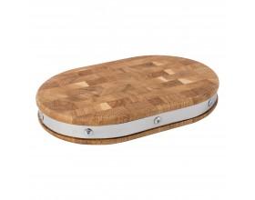 KRAUFF Дървена дъска - овална 30 х 20 х 4 см