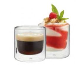 """GEFU Сет от 2 двустенни стъклени чаши """"MIRA"""" - 80 мл."""