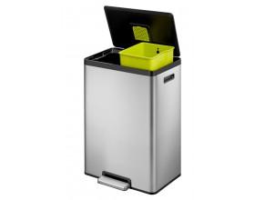"""EKO Кош за разделно събиране на отпадъци с педал """"ECOCASA II"""" - 2 х 20 литра - мат"""