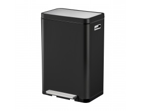 """EKO Кош за отпадъци с педал """"X-CUBE""""- 45 литра - черен"""