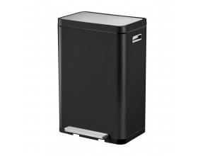 """EKO Кош за отпадъци с педал """"X-CUBE""""- 30 литра - черен"""