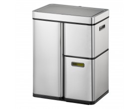 """EKO Сензорен кош за разделно събиране на отпадъци """"MIRAGE PLUS"""" - 60 (30+15+15) литра - мат"""