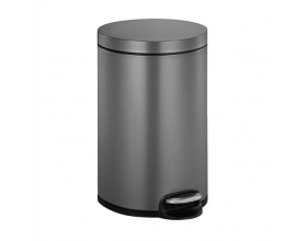 "EKO EUROPE Кош за отпадъци с педал ""SERENE"" - platinum - 8 л."
