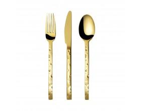 """HERDMAR Комплект прибори за хранене """"CHEESE"""" - 24 части - златно PVD покритие"""