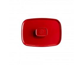 EMILE HENRY Керамичен правоъгълен капак за тави EH 9652 - цвят червен
