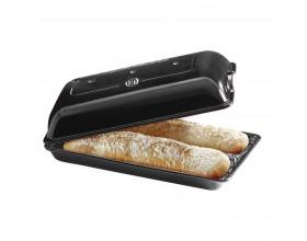 """EMILE HENRY Керамична форма за печене на хляб/чабата """"CIABATTA BAKER"""" - 39 х 23см - цвят черен"""