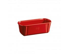 """EMILE HENRY Керамична провоъгълна форма за печене """"SMALL LOAF DISH"""" - 24 х 11  - цвят червен"""