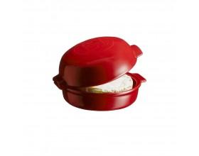 """EMILE HENRY Керамична форма за печене с капак """"CHEESE BAKER"""" - Ø 19,5 см - цвят червен"""
