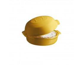 """EMILE HENRY Керамична форма за печене с капак """"CHEESE BAKER"""" - Ø 19 см - цвят жълт"""