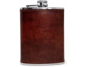Vin Bouquet Комплект кожена бутилка за алкохол с фуния