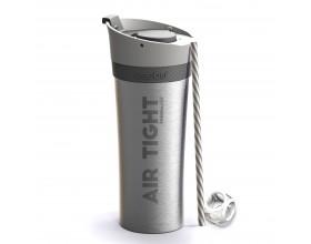 """ASOBU Двустенна термо чаша """"FRESH N GO"""" с вакуумна изолация и система AIR PUMP - 500 мл - цвят сребрист"""