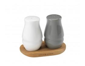 COLE & MASON Комплект за сол и пипер  с дървена поставка