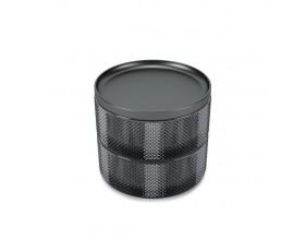 """UMBRA Стъклена кутия за бижута и аксесоари """"TESORA"""" - цвят графит"""