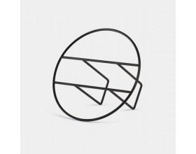 """UMBRA Поставка / стойка за списания и плочи """"HOOP"""" - цвят черен"""