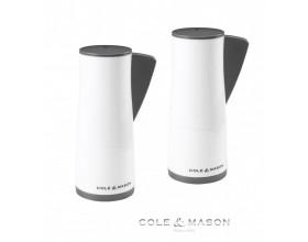 """COLE & MASON Комплект мелнички за сол и пипер """"OXLEY"""" - 14,5см - цвят бял"""