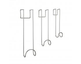 """UMBRA Комплект от 3бр закачалки за врата """"SWOOP"""" - цвят никел - три размера"""