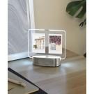 """UMBRA Рамка за 2 снимки 6х8 см с LED светлина """"GLO  INSTANT"""" -  цвят никел"""