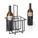 """PHILIPPI Метална кошница / стойка за вино """"CUBO"""" - черна"""