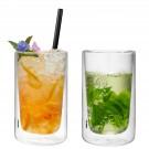 """GEFU Сет от 2 двустенни стъклени чаши """"MIRA"""" - 350 мл."""