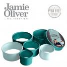 JAMIE OLIVER Комплект от 5 бр. кръгли форми за десерти и ястия - цвят атлантическо зелено / светлосиньо