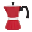 """LEOPOLD VIENNA Кафеварка """"TIVOLI"""" за 6 кафета - цвят червен"""