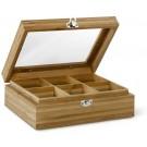 BREDEMEIJER Бамбукова кутия за чай с 6 отделения