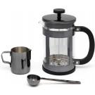 LEOPOLD VIENNA Комплект за кафе от 3 части - 800 мл - цвят черен