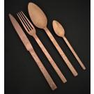 """HERDMAR Комплект прибори за хранене """"CRONOS №1"""" - 24 части - медно PVD покритие, гравирани"""