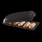 """EMILE HENRY Керамична форма за печене на мини багети """"MINI - BAGUETTE BAKER"""" - цвят черен"""