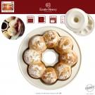 """EMILE HENRY Керамична кръгла форма за печене на питки """"CROWN BAKER"""" - Ø 30,5 см - цвят екрю"""
