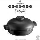 "EMILE HENRY Керамична индукционна касерола ""DELIGHT""  - 2,5 л / Ø 27см - цвят черен"