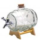 Vin Bouquet Стъклен диспенсер за алкохол - буре - 1 л.