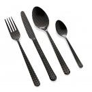 """HERDMAR Комплект прибори за хранене """"OSLO № 11"""" - 24 части - черен мат,  гравиран"""