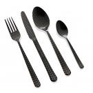 """HERDMAR Комплект прибори за хранене """"OSLO № 11"""" - 36 части - черен мат,  гравиран"""