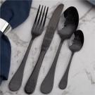 """HERDMAR Комплект прибори за хранене """"POMPADOUR"""" - 75 части - черен/мат"""