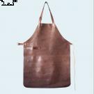 YAKO & CO Ръчно изработена кожена престилка - кафяв цвят