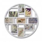 """UMBRA Колаж от рамки за снимки """"LUNA"""" - цвят бял - за 9 снимки"""