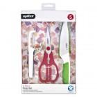 ZYLISS Комплект за подготовка на храна от 3 части - белачка, ножица и универсален нож
