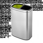 "EKO EUROPE Отворен кош за отпадъци ""OLI - CUBE"" - матиран - 2 х 20 л."