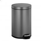 "EKO EUROPE Кош за отпадъци с педал ""SERENE"" - platinum - 12 л."