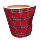 "Nerthus Порцеланова чаша за кафе ""RED TARTAN"" - 100  мл"