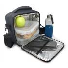 Nerthus Термоизолираща чанта за храна с 2 джоба - сив цвят