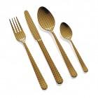 """HERDMAR Комплект прибори за хранене """"OSLO № 11"""" - 24 части - старо злато, гравиран"""